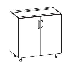 FIORE dolní skříňka D80, korpus wenge, dvířka bílá supermat
