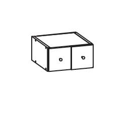 FIORE horní zásuvka GS30/14, korpus bílá alpská, dvířka bílá supermat