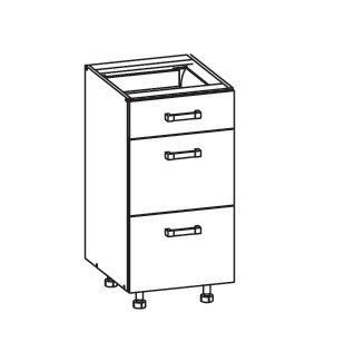 FIORE dolní skříňka D3S 40 SMARTBOX, korpus congo, dvířka bílá supermat