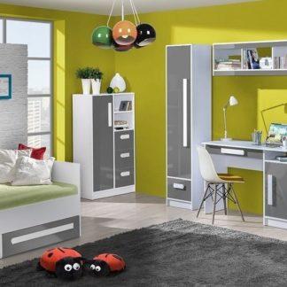 Dětský pokoj GULLIWER bílá/šedý lesk
