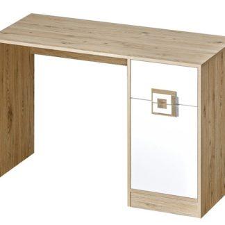 Pracovní stůl NIKO 10, dub jasný/bílá