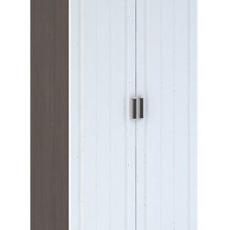 PRAGA WK-902 šatní skříň 2D, wenge/bílá