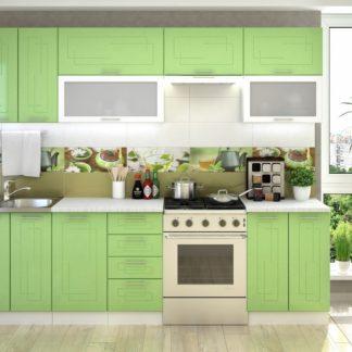 Kuchyně VEGA 260, bílý/sv.zelený metalic