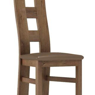 Čalouněná židle TADEÁŠ, dub lefkas/Victoria 31