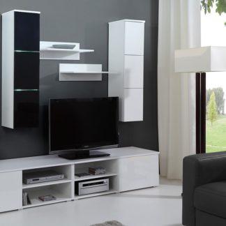 Obývací stěna MONTE CARLO, bílá/černá