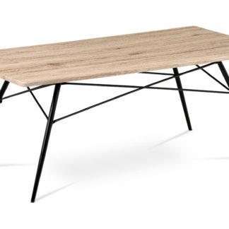 Konferenční stolek AF-2070 SRE, dub san remo/černý mat