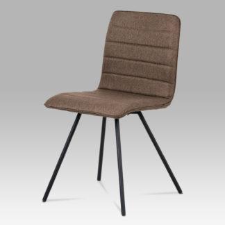 Jídelní židle CT-111 BR2, hnědá látka/černý mat