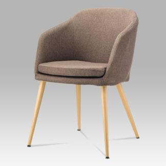 Jídelní židle DCH-131 BR2, hnědá látka/kov buk