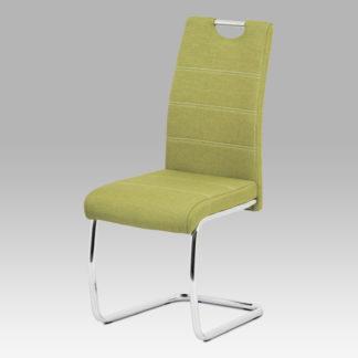 Jídelní židle HC-482 GRN2, zelená látka/chrom