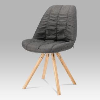 Jídelní židle CT-121 GREY2, šedá látka/dub masiv