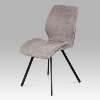 Jídelní židle HC-440 LAN3, lanýžová látka vintage/kov černý