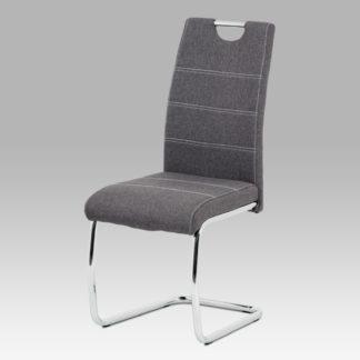 Jídelní židle HC-482 GREY2, šedá látka/chrom