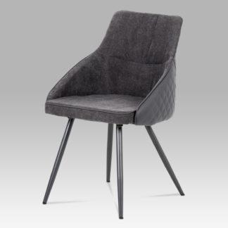 Jídelní židle  DCH-202 GREY2, šedá látka+ekokůže/kov šedá