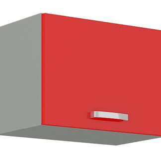 ROSE, skříňka horní 50 GU-36 1F, šedá / červený lesk