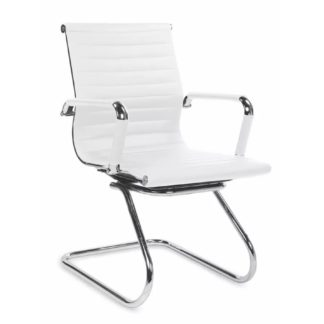 Jednací židle PRESTIGE SKID, bílá