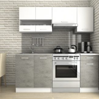 Kuchyňská linka Lulu III 120/180 beton/bílá - FALCO