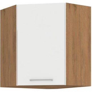 Kuchyňská horní rohová skříňka Vigo 58x58GN dub lancelot/bílý lesk - FALCO