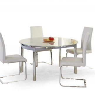 Skleněný jídelní rozkládací stůl NESTOR Halmar