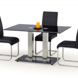 Jídelní stůl skleněný WALTER 2 černá Halmar