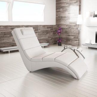 Relaxační křeslo LONG Tempo Kondela Bílá