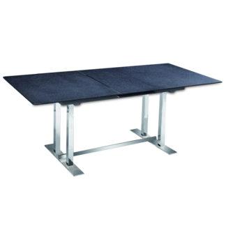 Jídelní stůl rozkládací 160/200 BENDER kámen / ocel Tempo Kondela
