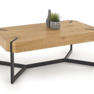 Konferenční stolek LAVIDA dub zlatý / černá Halmar