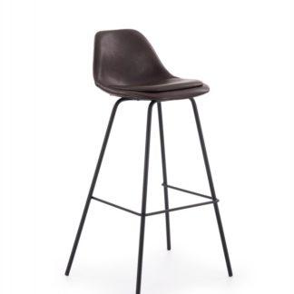 Barová židle H-90 Halmar Tmavě hnědá
