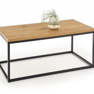 Konferenční stolek ARUBA dub zlatý / černá Halmar