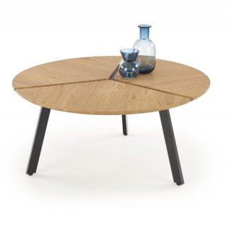 Konferenční stolek LUANA dub zlatý / černá Halmar