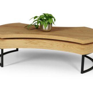 Konferenční stolek AUREA 3 dub zlatý / černá Halmar