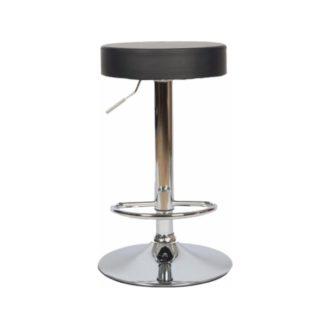 Barová židle ADALIN ekokůže / chrom Tempo Kondela Černá