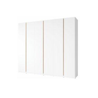 Šatní 6-dveřová skříň PIETRO bílá / dub divoký Tempo Kondela