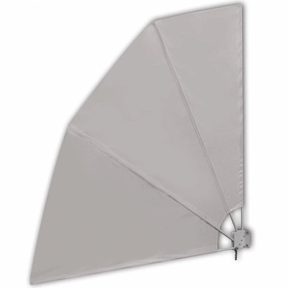 Skládací zástěna proti větru 210 x 210 cm Krémová