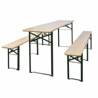 Skládací pivní set stůl se 2 lavicemi 220 cm jedle