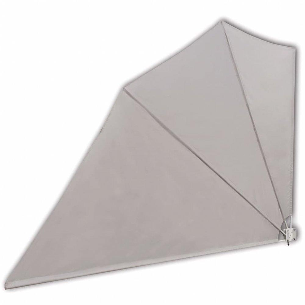 Skládací zástěna proti větru 160 x 240 cm Krémová