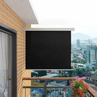 Multifunkční balkonová zástěna 150 x 200 cm Černá