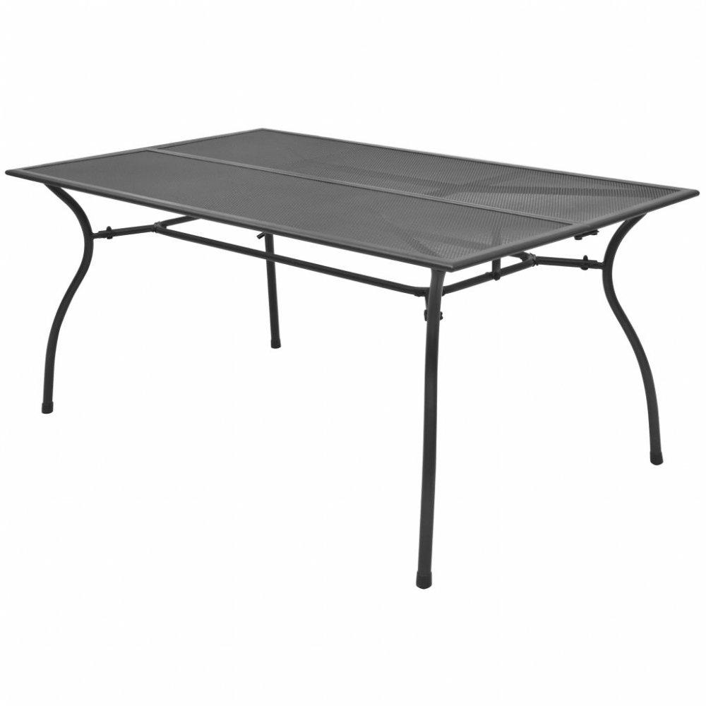 Zahradní jídelní stůl 150x90 cm antracit ocelové pletivo