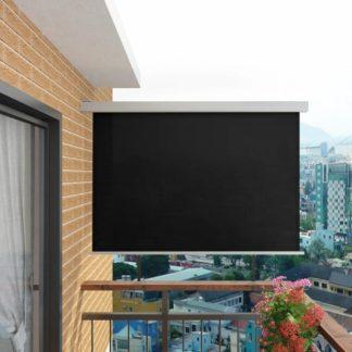 Multifunkční balkonová zástěna 180 x 200 cm Černá