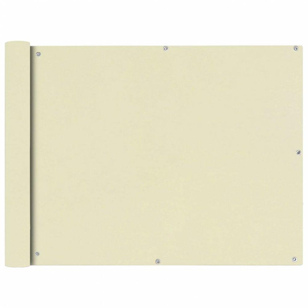 Balkónová zástěna 90 x 600 cm oxfordská látka Krémová