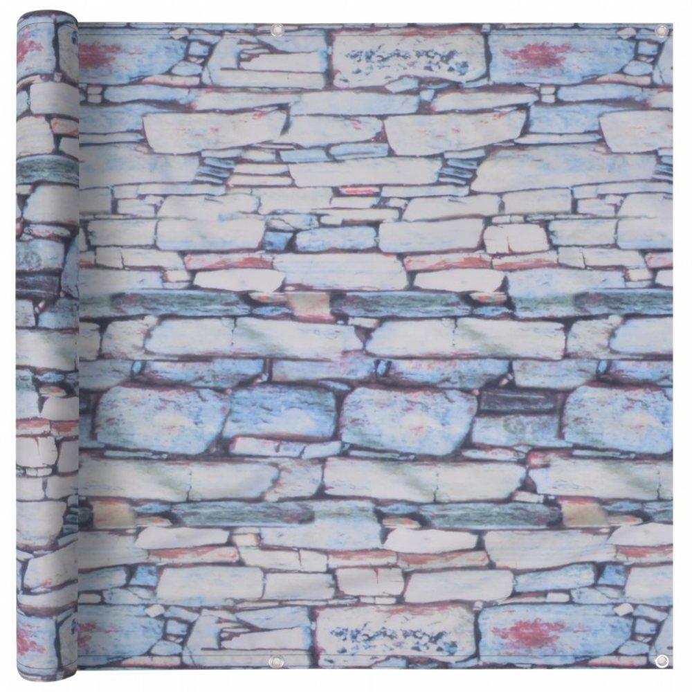 Balkónová zástěna 75 x 600 cm oxfordská látka Kamenná zeď