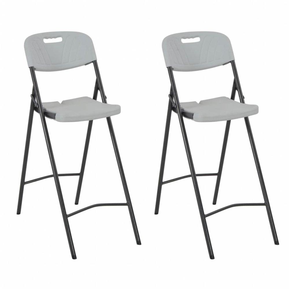 Skládací barové židle 2 ks bílá / černá