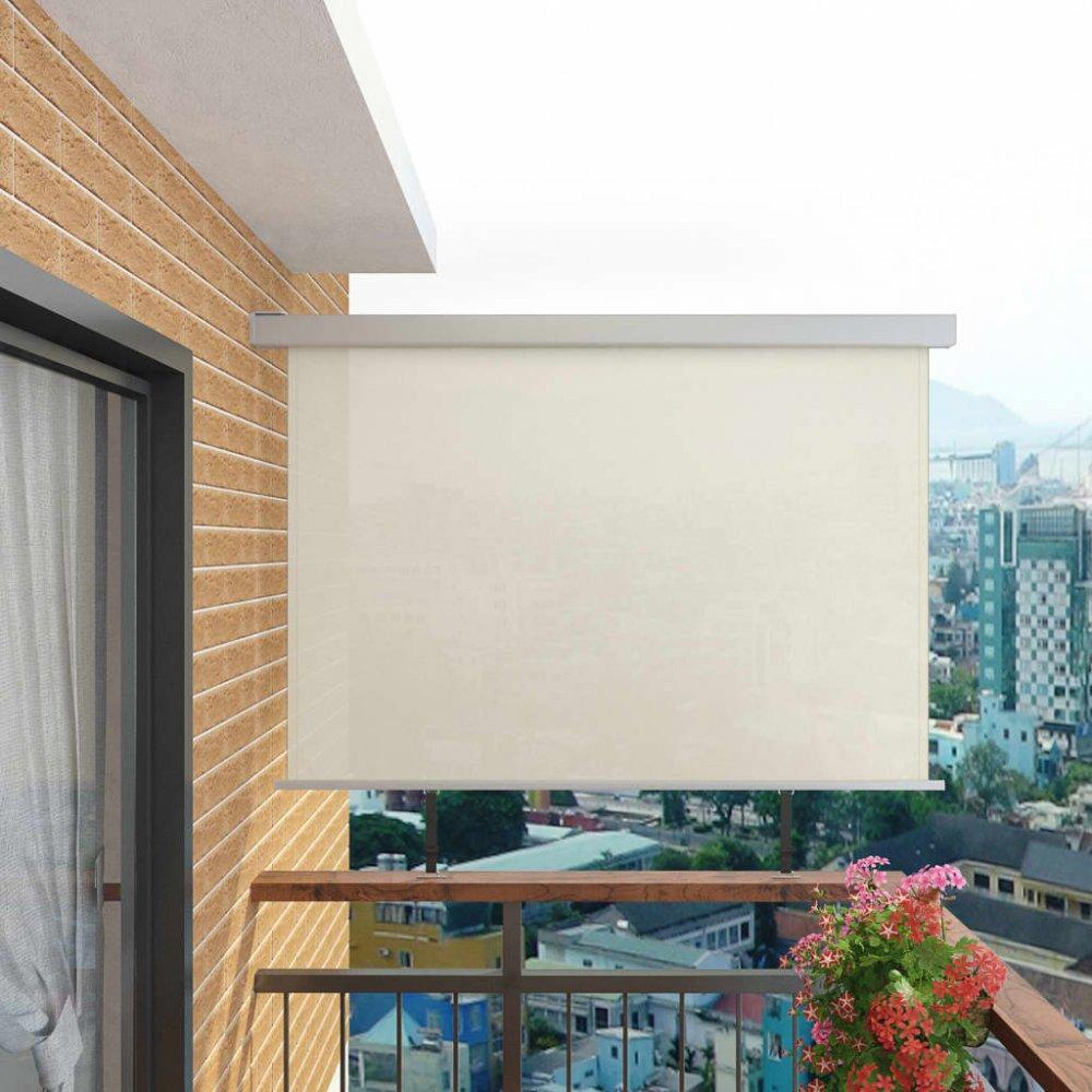 Multifunkční balkonová zástěna 180 x 200 cm Krémová