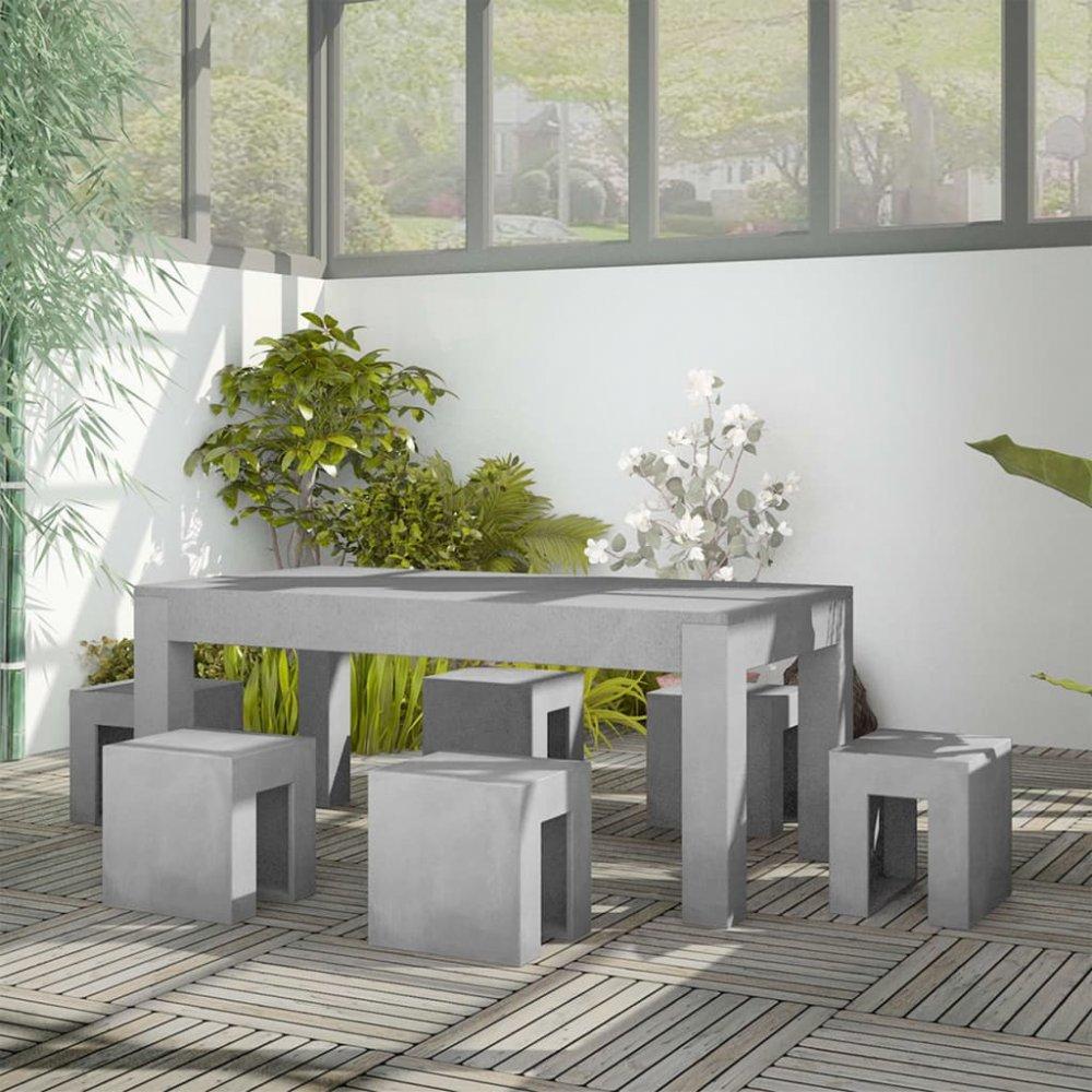 Zahradní jídelní set 7ks betonový