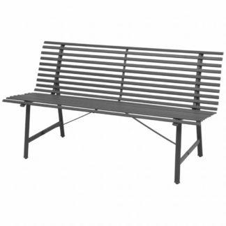 Ocelová zahradní lavička Antracit