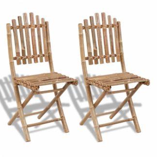 Skládací zahradní židle 2ks bambus