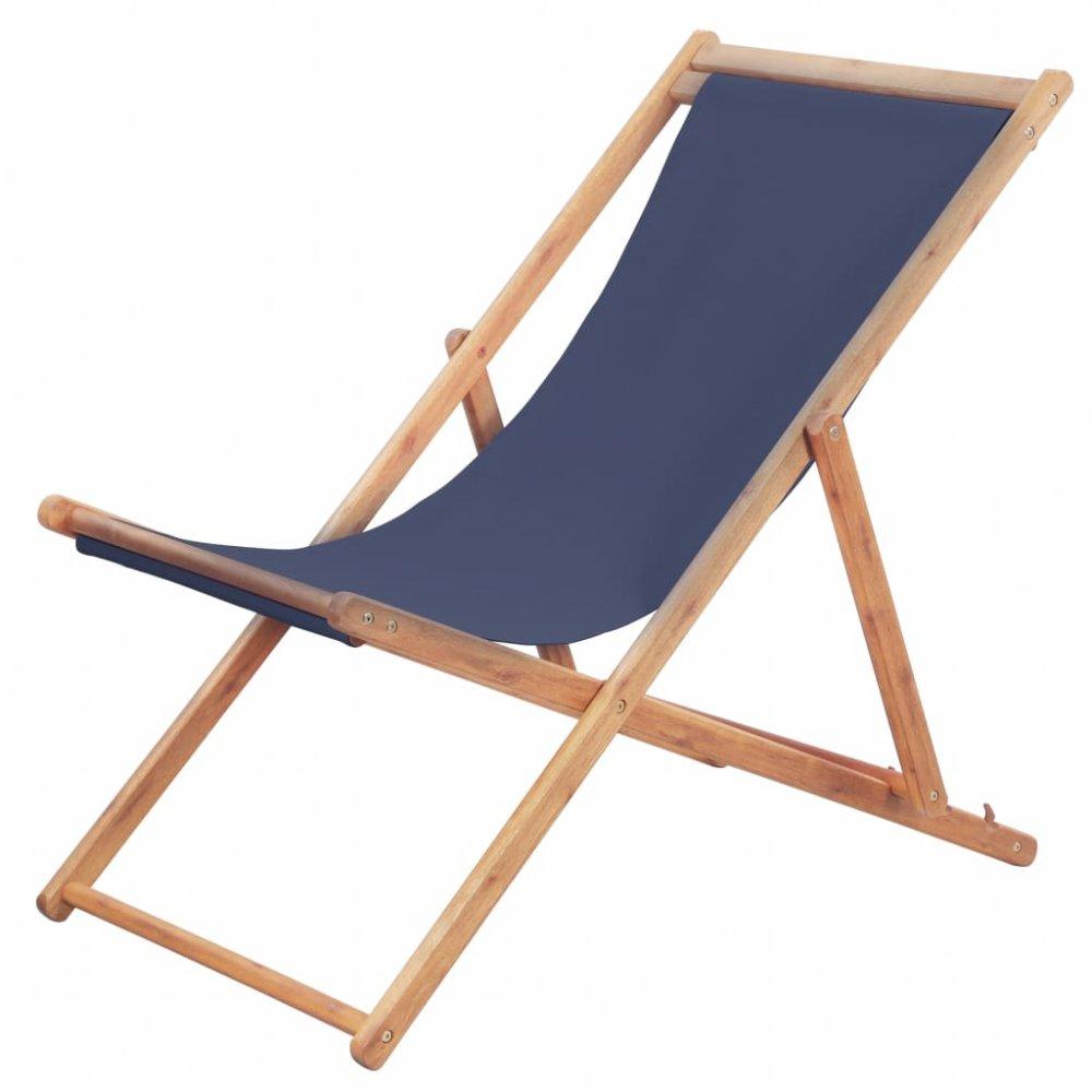 Skládací plážová židle látková Modrá