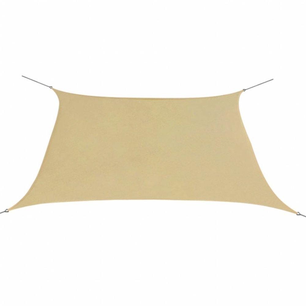 Plachta proti slunci oxfordská látka čtvercová 2x2 m Béžová