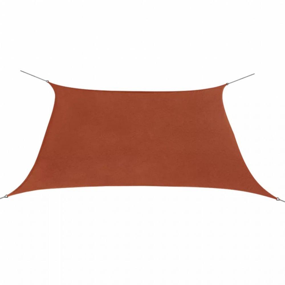 Plachta proti slunci oxfordská látka čtvercová 2x2 m Cihlová