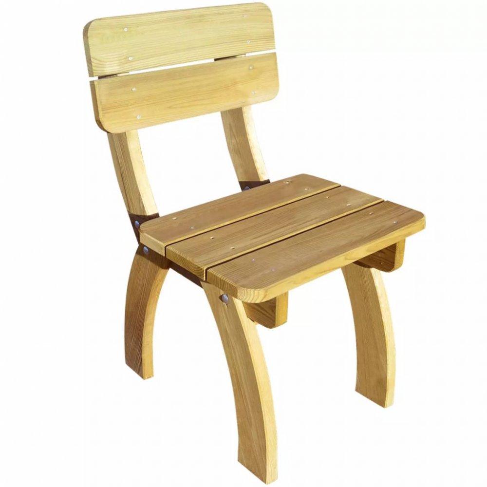 Zahradní židle borové dřevo