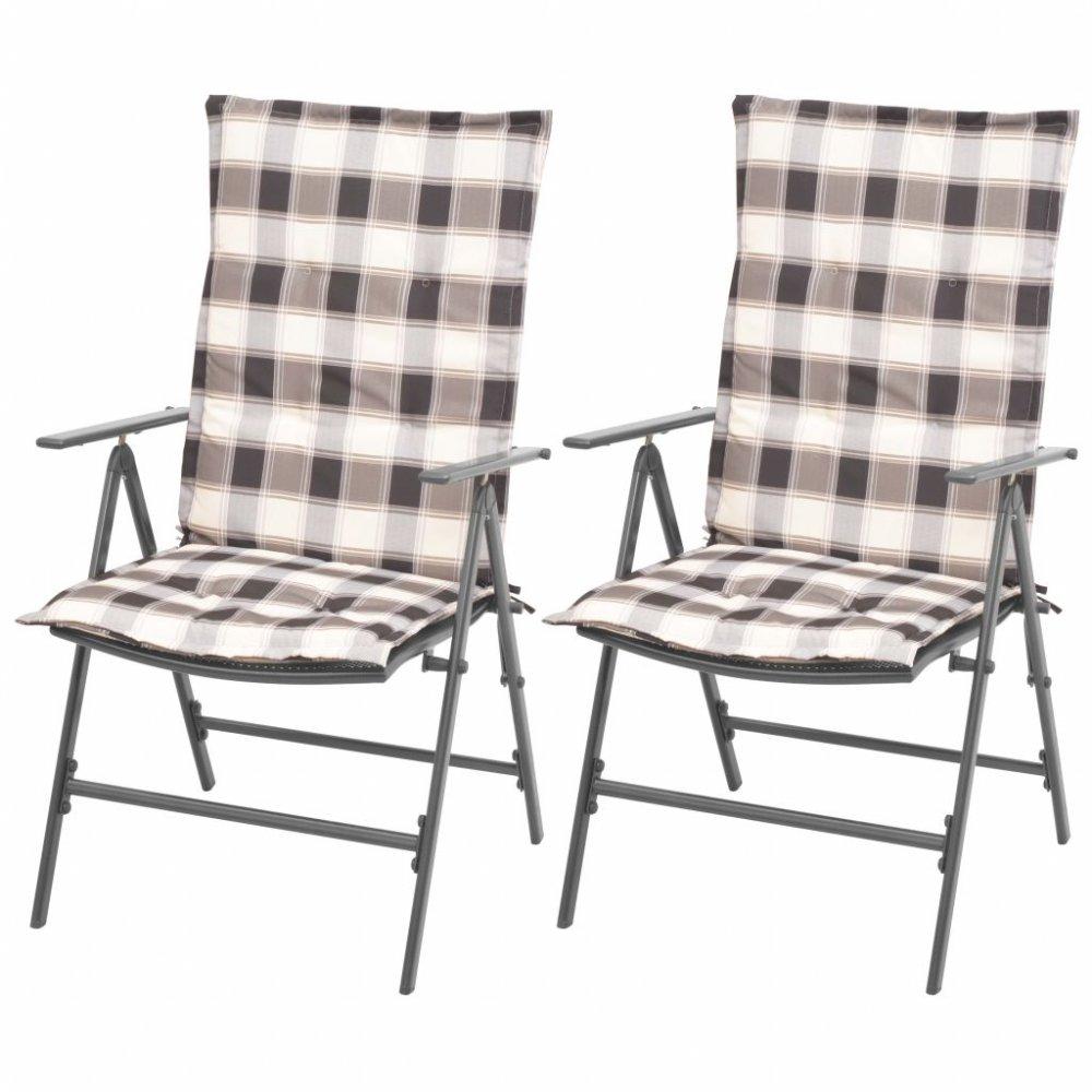 Polohovatelné zahradní židle 2 ks antracit